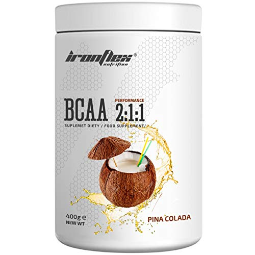 Iron Flex BCAA 2-1-1-1 Pack - Branched Chain Amino Acids in Powder - Muscle Regeneration - Anticatabolic (Pina Colada, 400g)