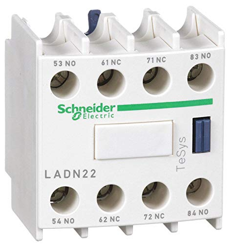 Schneider Electric IEC Auxiliary Contact Block, 10 Amps, Standard Type, Front Mounting