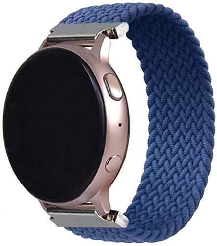 YGGFA 2020 Nuevo Último 20 22mm Trenzado Solo Loop es adecuado para Samsung Galaxy Watch 46 mm 42 mm, para Huawei Gt 2 (Color: Azul Atlántico, Tamaño: M (20 mm)