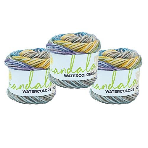 (3 Pack) Lion Brand Yarn Mandala Watercolors Yarn, Wild Pansy