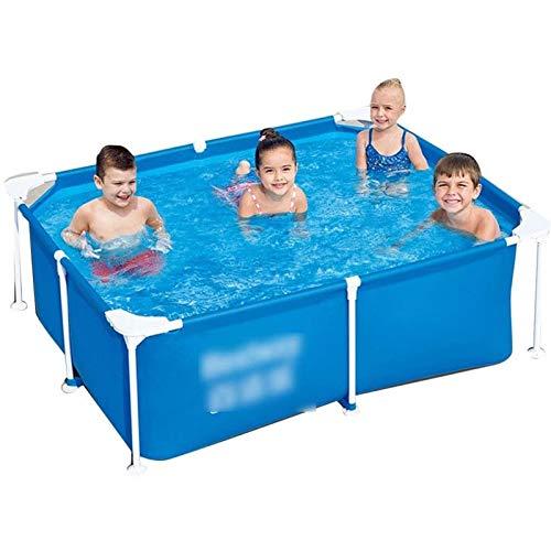 Qazxsw Soporte Piscina/Familia Niños Adultos Familia Espesada Pool/Gran Estanque de Pescado Al Aire Libre/Malla de Tres Capas espesadas/Soporte de Metal a Prueba de óxido,Azul,120 * 92 * 33cm