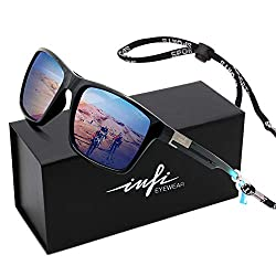 cheap Polarized Fishing Sunglasses Square UV Protection for Men Driving Golf Sports Glasses…