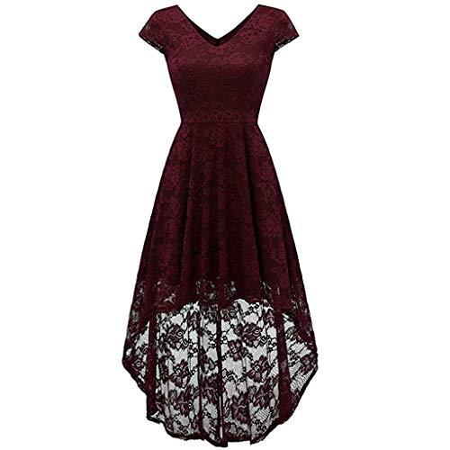 Suliflor Encaje Patchwork Vestido,Moda Vestido de Fiesta par