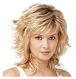 Peluca corta recta rubia con Cap Net Light Rose de oro de alta calidad peluca tapa llena cosplay peluca rubia for la Mujer sintético peluca peluca llena explosión de partido de las mujeres pelucas /...
