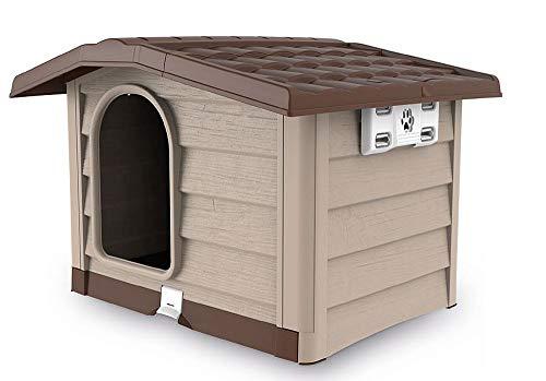 Bama Spa Hundehütte Hundehaus isoliert XXL Hundehöhle Wetterfest Kunststoff Outdoor groß
