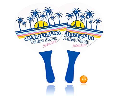 AQUAZON Beach Ball Set Strandspiel Strandtennis für den Strandurlaub in coolem Design, Farbe:Venice Beach