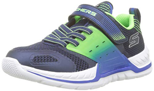 Skechers Jungen Nitrate 2.0 Sneaker, Blau (Navy Lime Nlm), 31 EU