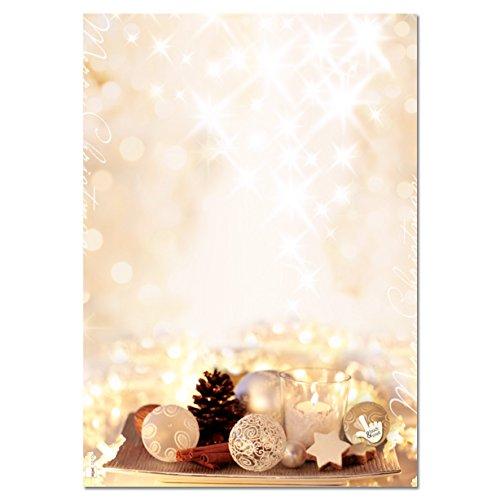 """SIGEL DP926 papier listowy Boże Narodzenie """"Gwiazdy cynamonowe"""", A4, 25 arkuszy, o świątecznym zapachu przypraw"""