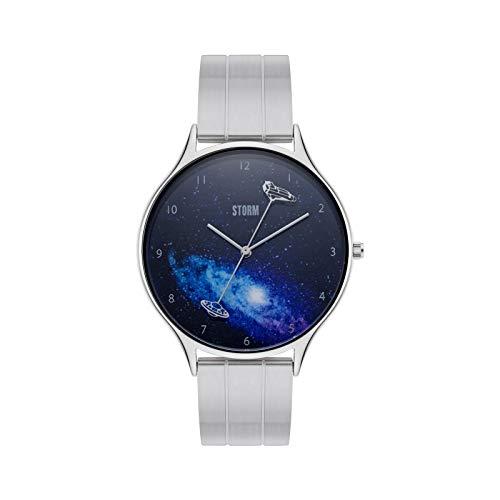 STORM London Interstellar Blue, Armbanduhr, Unisexuhr, Edelstahlgehäuse, 5 bar Wasserdicht, Mineralglas, Analoguhr, 47428/B