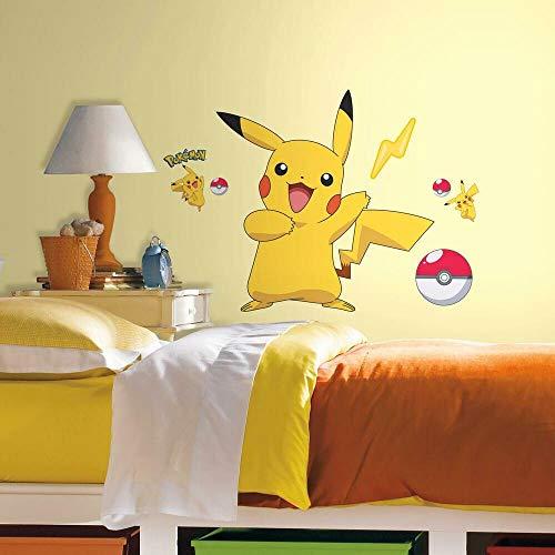 RoomMates RMK2536GM Lot de stickers muraux Pokémon Pikachu Facile à décoller et appliquer