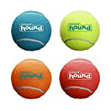 Outward Hound Squeaker Ballz Fetch Dog Toy, Medium - 4 Pack