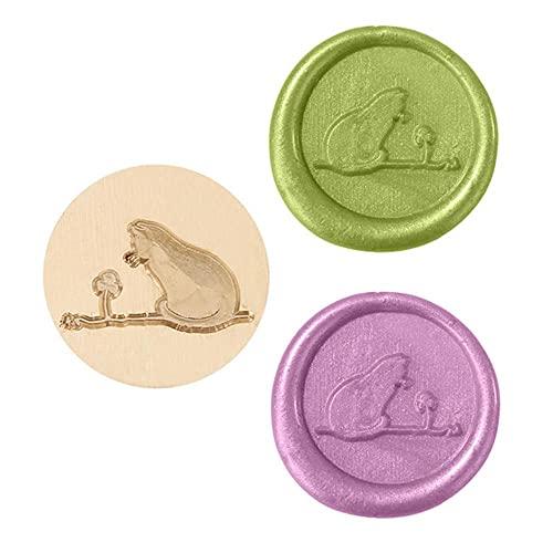 Sello de cera de la serie Animal de 25 mm Reemplazo de cobre 3D Artesanía decorativa para invitaciones de boda Sellos de sobres Decor-S, Estados Unidos