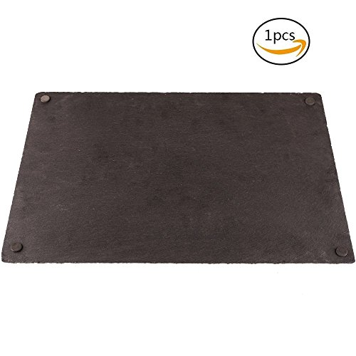 Bamboo's Grocery Slate Cheese Board, Perfect Cheese Platter Slate Board, Wine and Cheese Serving Board, Serving Trays for All Occassions (30x20 cm)