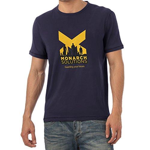 Texlab - Monarch Solutions - Herren T-Shirt, Größe S, Navy