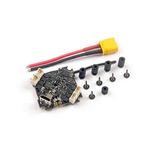 HAPPYMODEL Crazybee F4 Pro V3.0 Controlador de Vuelo Blheli_S 10A 2-4S Receptor Frsky / Flysky Compatible con ESC sin escobillas para Cinecan 4K Racing Drone (Frsky RX)