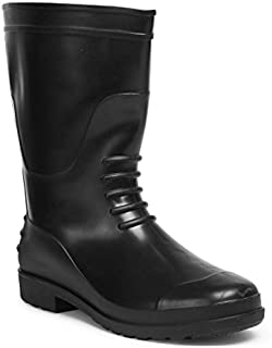 Hillson TC07HLS0230_Size 7 Chota Hathi Safety Gumboot, Without Lining, Black, UK Size 7