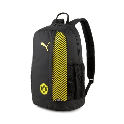 PUMA Unisex BVB ftblCORE Backpack Plus, Rucksack, Puma Black-Cyber Yellow, Einheitsgröße