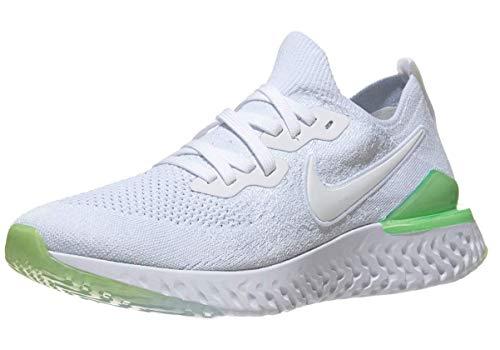 Nike Men's Epic React Flyknit 2 Running Shoe White/Lime Blast/White 11 M US