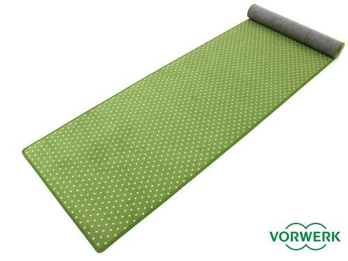 HEVO Vorwerk Bijou Petticoat grün Teppich | Kinderteppich | Spielteppich 100x400 cm Sonderedition