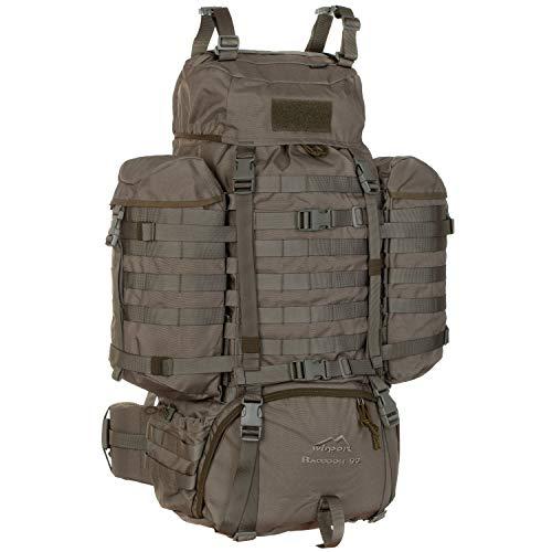 Wisport Bug Out Bag Damen & Herren + inkl. E-Book | Prepper Rucksack für Frauen Männer | BOB Backpack | Überlebensrucksack | Fluchtrucksack groß | Cordura | Raccoon 85 L, RAL-7013
