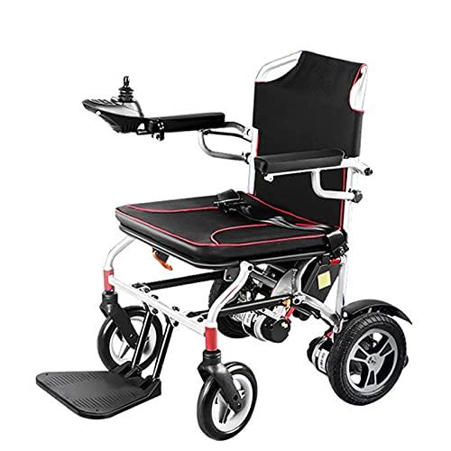LFLLFLLFL Elektrorollstuhl, Faltbarer Rollstuhl Sicherheits-elektrischer Rollstuhl Leichtweiß-Faltstraße Elektrischer Rollstuhl Komfortables Ultra-Light 19kg Kann Einhändig Sein (Size : 1 Battery)