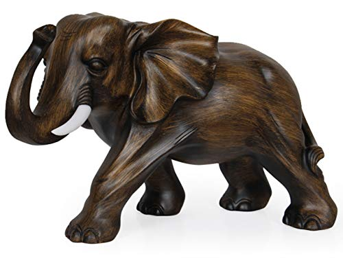 """Aibote Feng Shui Elefant Statue Reichtum Glück Figur Skulptur Heim Büro Schreibtisch Dekoration Geschenk Palisander Farbe 8\""""(L) x 5\""""(W) x 6\""""(H) rosewood"""