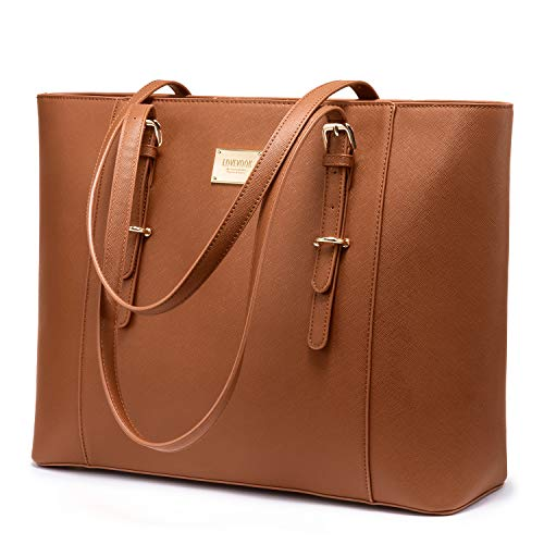 """Multi-pockets, large size-15.2""""(17.3"""")W x 12.2""""H x 5.5""""D, fit under 15.6"""" laptop, has lots of pockets for you carry laptop, iPad, books, files, folders, mouse to office or school Multi-purpose, practical, chic and the ideal size for all what you need..."""