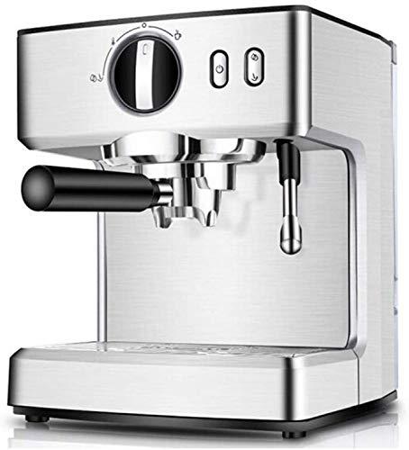 CHNFF praktische espressomachine, cappuccino koffiezetapparaat met melkkoker Frother, 15 bar pompen latte en moka-machine, roestvrij staal, warme top voor cup-plaatsing, 1100 W
