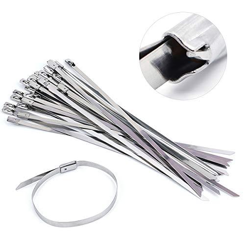 NATUCE 100 Pieza 300 x 4,6 mm Bridas Metalicas Cable Lazos, Acero...