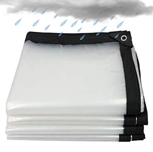 HYDL Lona Impermeable Transparente con Ojales, 120g/㎡, Lona Alquitranada Impermeable Resistente Al Agua Y A Los Rayos UV Ligero Funda Protectora