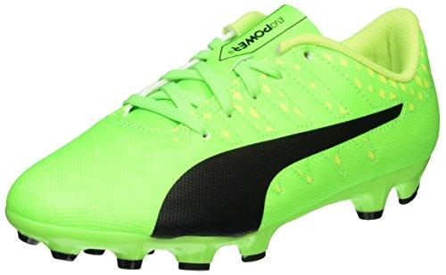 Puma Unisex EvoPower Vigor 4 AG Jr Fußballschuhe, Grün (Green Gecko Black-Safety Yellow 01), 38.5 EU