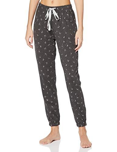Women' Secret Pantalón Largo de Pijama Lunas, Estampado Gris, XS