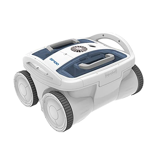 Aquabot SP100 Dual PVA Hyperfine Brush Automatic Robotic Universal In Ground Pool Cleaner Machine with Ultra Fine Filtration and 40 Foot Cord