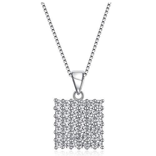 TKFY Frauen Fashion Halskette 925 Sterling Silber Zircon Mit Drill Pendant Sweater Chain Long Hales Valentines Gifts Allergen-frei