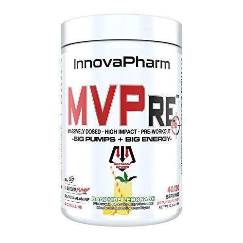 InnovaPharm MVPre 2.0 Extremely Strong Pre Workout 40 Servings (Roadside Lemonade)