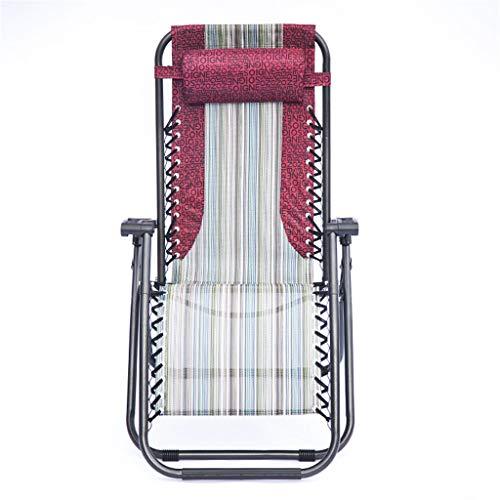 Pliant inclinable Chaise Longue Chaise Portable Pliable Camping Plage Pêche Camping Jardin BalconBed & avec Appuie-Tête Appui 350lbs