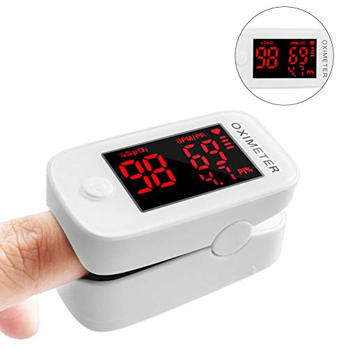 """Fingertip Pulse O+xim+eter Blood Ox^yg-en Satura-Tion Monitor Portable Pulse O+xim+eter, Heart Rate Monitor and 1.5"""" OLED Digital Display by Chambin"""