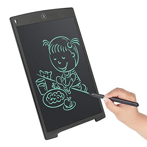 angmno Tableta de escritura de 12 pulgadas para dibujar y aprender Office Memo e-writer Pad Tablero de mensajes (negro)