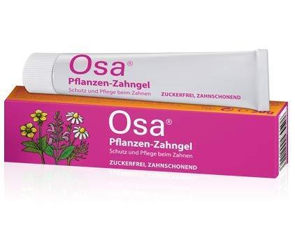 Osa Pflanzen-Zahngel Spar-Set 2x20g. Der pflanzliche Helfer in der schwierigen Zahnungszeit. Kühlt, beruhigt und pflegt das gereizte Zahnfleisch. Schützt vor Entzündungen.
