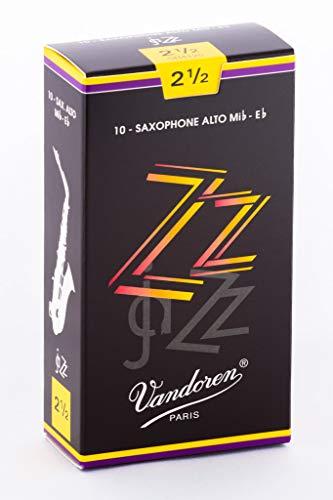Vandoren ZZ Alto Saxophone Reeds - Box of 10 - Strength 2.5