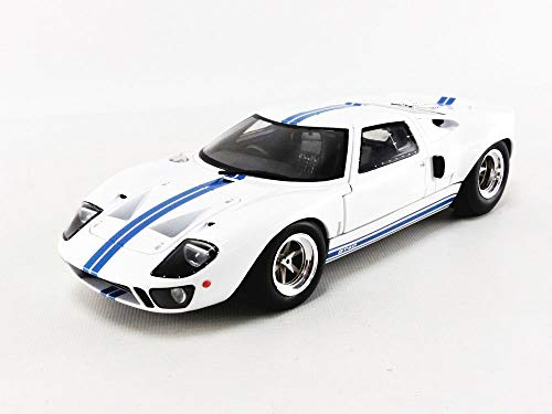 solido S1803002 1:18 Ford GT40 MK1 Widebody-White & Blue Stripes