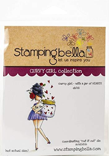 Stamping Bella Frischhalte-Stempel, kurviges Mädchen mit einem Glas mit Herzen