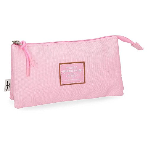 Trousse 3 compartiments Pepe Jeans Cross Rose
