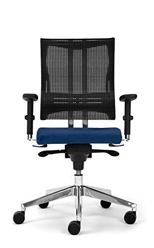 Nowy Styl Bürostuhl Net-Motion blau ohne Kopfstütze, One Size
