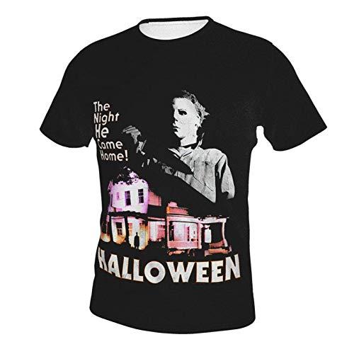 IUBBKI Camiseta básica de Manga Corta para Hombre Michael-Myers-Came-Home-Halloween-T-Shirt.Master优化 Men's Crew Neck T-Shirt