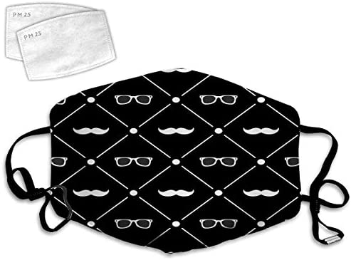 Face Covers Reusable Balaclava for Teen Men Women Seamless Pattern Background with Mustache product image