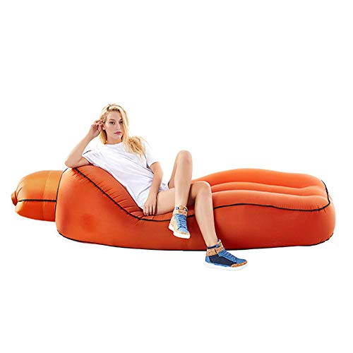 HUIHUAN Tragbare aufblasbare Liege, Luft-Sofa, wasserdicht und Anti-Luft-Leck Design-Ideale Couch für Backyard Lakeside Beach Reisen Camping Picknicks