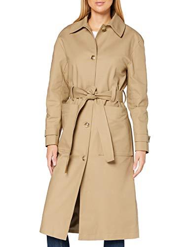 find. Damen Trenchcoat mit Gürtel, Beige (Neutral), 38, Label: M