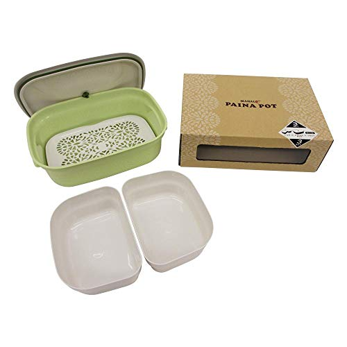 マハロカンパニー 保存容器 サラダグリーン 4.3L