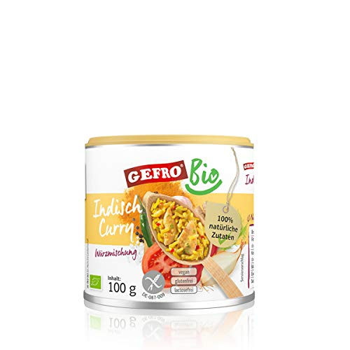 GEFRO BIO Indisch Curry zum Würzen und Verfeinern von Rohkost, Gemüse und Fleisch (100g)